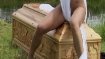 Nude Coffin Model