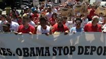 Hundreds protest Obama deportation policies at ICE, White House