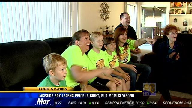 Lakeside boy learns 'The Price is Right,' but mom is wrong