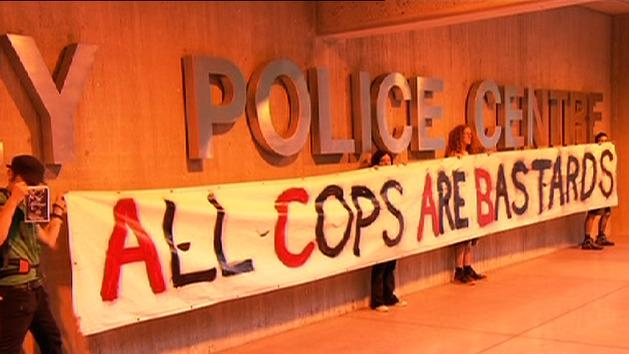 Hundreds march against police