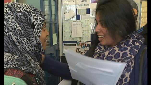 Celebrations at east London school after fantastic GCSE results