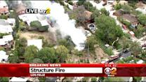 Explosions Heard Coming From House Fire In Los Feliz