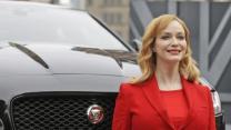 Christina Hendricks Unveils New Jaguar