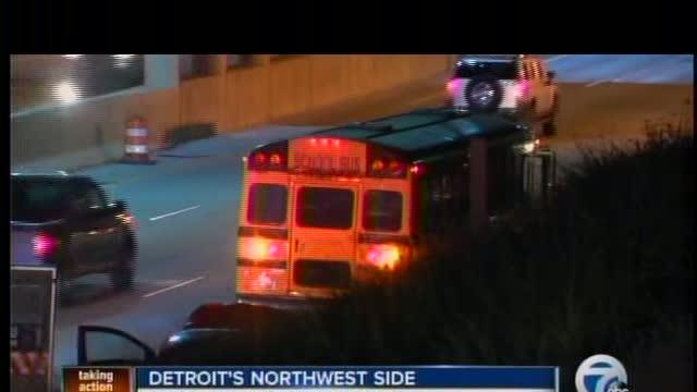 School bus involved in an accident in Detroit