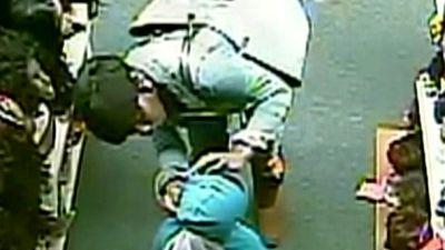 Cameras Show Woman Using Young Boy To Pickpocket