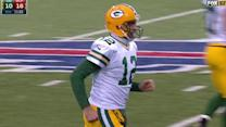 Green Bay Packers quarterback Aaron Rodgers intercepted for second time by Bacarri Rambo