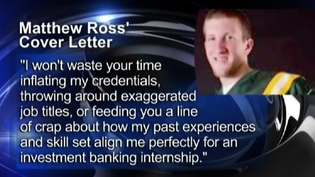 Cover letter by student praised for honesty