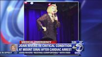 Joan Rivers remains in critical condition after cardiac arrest