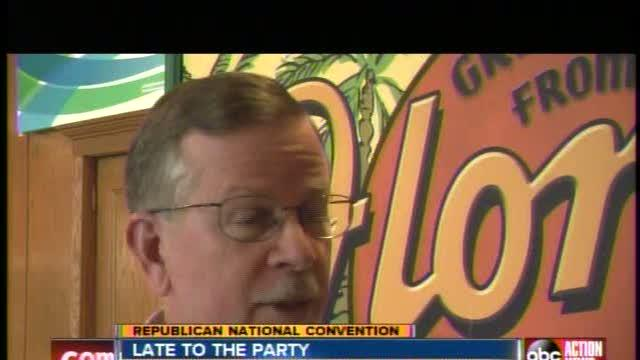 Florida Delegates arrive later than expected to RNC