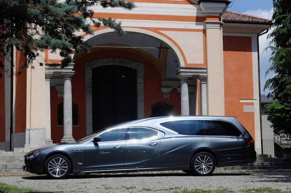 海神護送最後一程,Ellena改裝Maserati Ghibli靈車