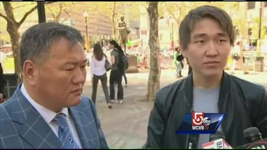 Father of UMass Dartmouth student arrested after Marathon bombings visits memorial site