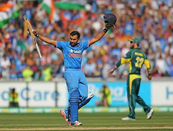 Rohit Sharma during his 138 at MCG