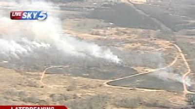 Crews Battle Large Grass Fire In Lincoln County
