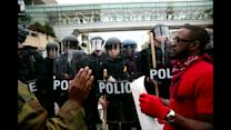 Violence erupts at Baltimore protest