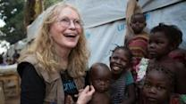 Mia Farrow Meets Displaced Families in Central African Republic