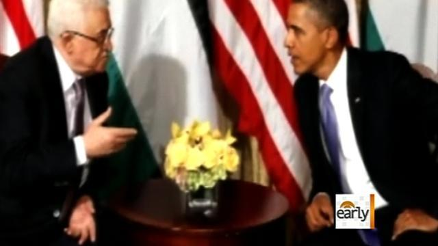Abbas presses for statehood, meets with Obama