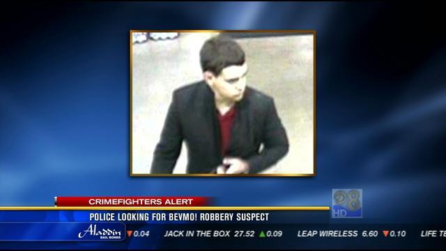Police looking for BevMo! robbery suspect