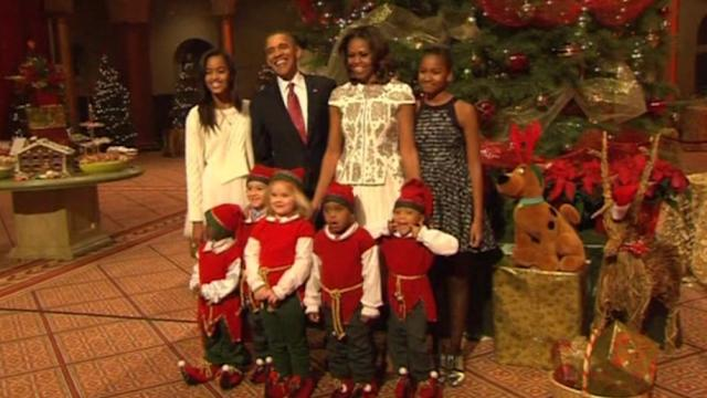 Obama and family attend Christmas show taping