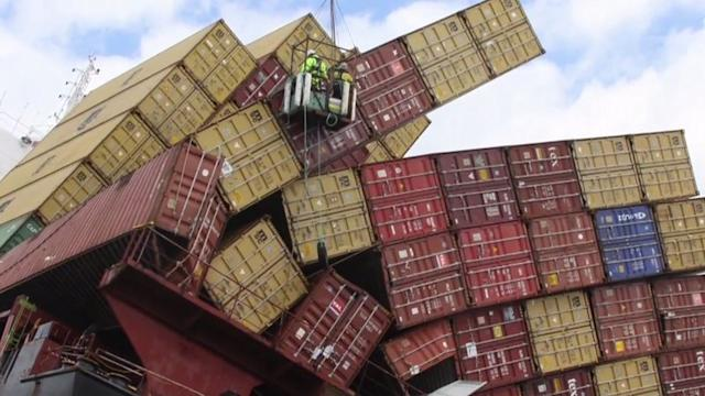 Nearly 10000 shipping containers are lost at sea each year