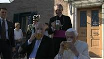 Benedict XVI has beer, party for 90th birthday at Vatican