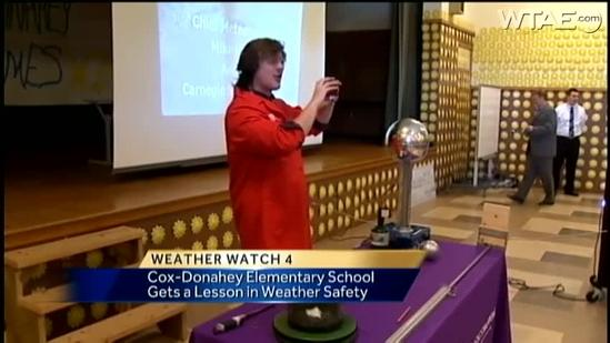 Weather Watch 4 School Visit: Cox-Donahey Elementary School