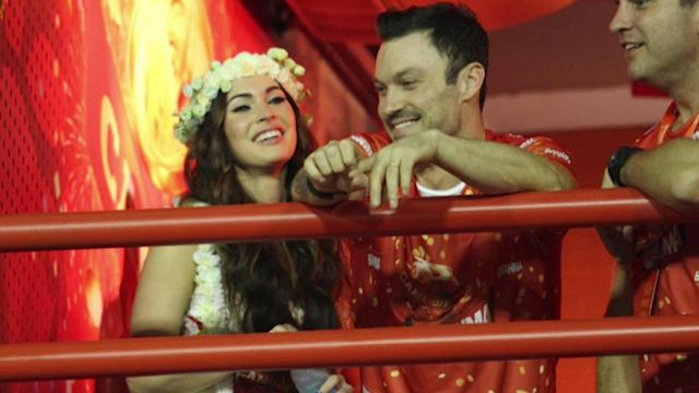 Megan Fox and Brian Austin Green Arrive Home From Brazil Trip With Baby Noah