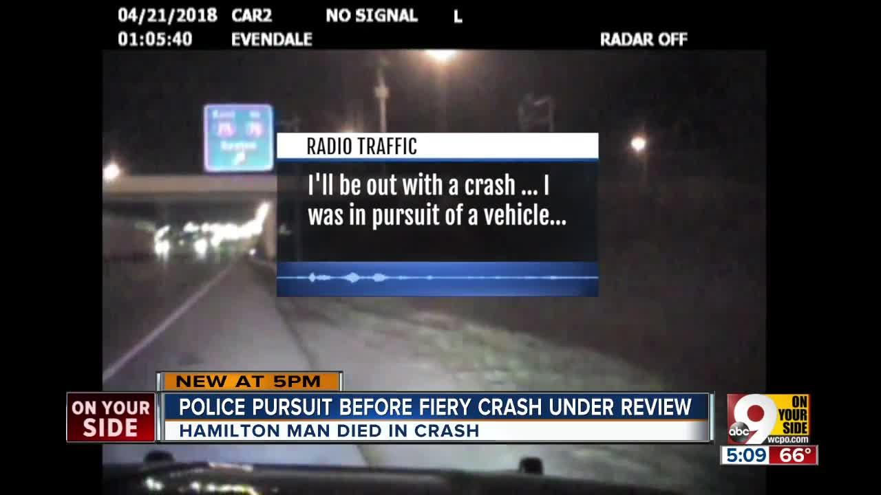 Police pursuit before fiery crash under review