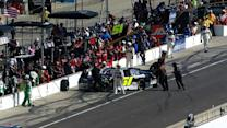 Clements spins on pit road