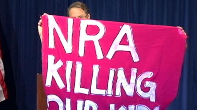 National Rifle Association News Conference Interrupted by Protesters
