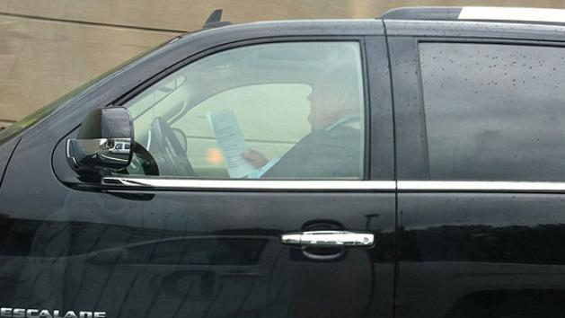 Mayor Busted on Twitter for Reading While Driving