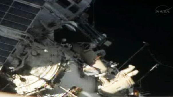 Watch: Cosmonauts on spacewalk at the International Space Station