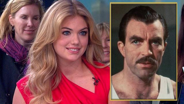 Kate Upton Wants You to Grow a Mustache