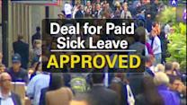 Deal reached on paid sick leave for New York City workers
