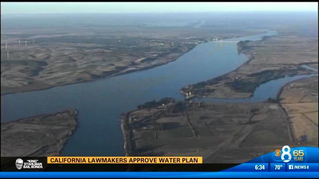 California lawmakers approve water plan