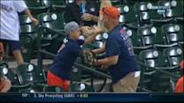 Dad drops ball at Astros game, son not happy