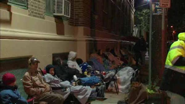 Newark parents camp out for school applications
