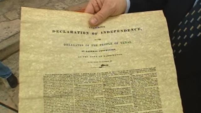 Historic Texas document missing?