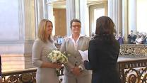 Prop 8 plaintiffs married at San Francisco City Hall