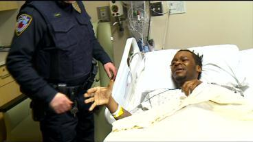 Man Thanks Officers Who Saved Him From Fiery Crash