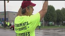 GE workers protest job cuts