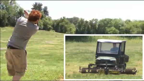 The guy every golfer tries to hit on the range