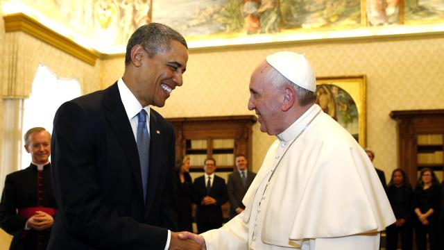 President and Pope Meet at the Vatican