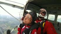 89 year old D-Day veteran parachutes into Normandy