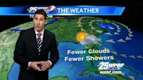First Alert Forecast: Mix of sun, showers ahead