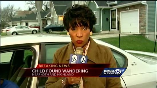 KC police find toddler wandering on city's east side