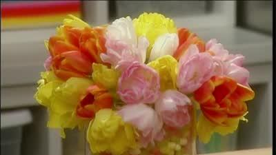 How to Make a Tulip and Jelly Bean Floral Arrangement