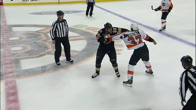 Jay Rosehill and Shawn Thornton scrap