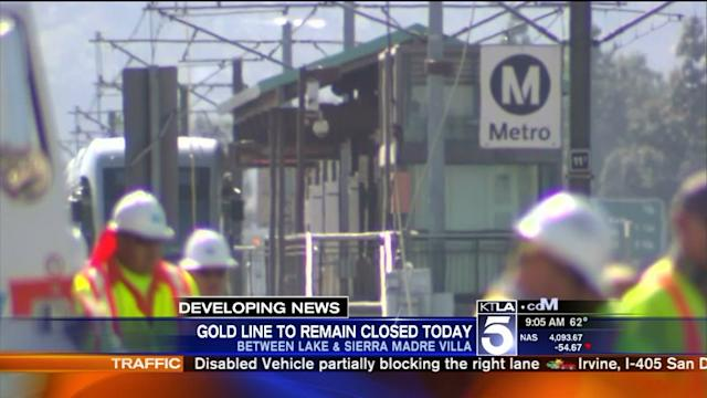 Buses Replace Trains in Portions of Metro Line in Pasadena During Crash Cleanup
