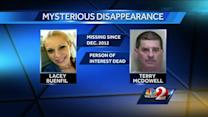 Person of interest in missing woman case dies