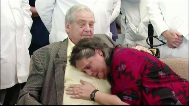 Transplant recipient has emotional reunion with donor's family